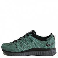 Мужские кроссовки Nike Free Run Flyknit Dark Green/Black