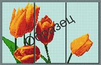 Схема для вышивки бисером «Желтые тюльпаны»