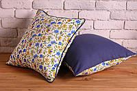 Декоративные наволочки для подушек Spring Flowers blue, 2 шт, 40х40 см Авторский дизайн
