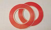 Двосторонній скотч 3М. ширина 2мм., 25м., червоний