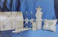 Свадебный набор аксессуаров с бантами и бусинами