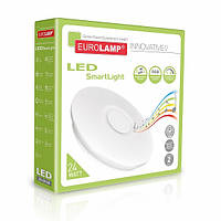 Cветодиодный светильник EUROLAMP SMART LIGHT RGB 24W dimmable 3000-6500K с музыкальным динамиком