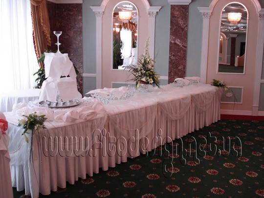 Украшение свадьбы цветами г.Киев
