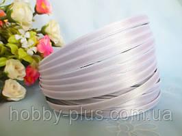 Обруч металлический с атласной лентой, БЕЛЫЙ, 0,5 см