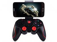 Bluetooth джойстик Terios T3 для Android, IOS, PC С креплением для телефона. Черный