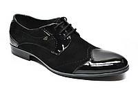 Мужские туфли TarOl 235-1ЛВ из натуральной замши и лакированной кожи