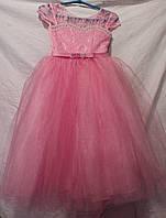 Детское платье Лилия,розовое,003,купить оптом со склада платье,12 DP-0019