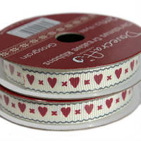 Лента текстильная Hearts , 2м Dovecraft