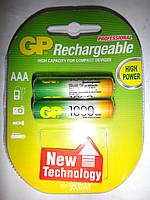 Аккамуляторные батарейки GP AAA 1000 mAh 1.2v NiMH 95 mA акамуляторная батарейка поколение 2017