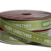 Лента текстильная Mery Christmas Green , 2м Dovecraft