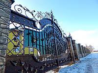 Ворота кованые Магнолія