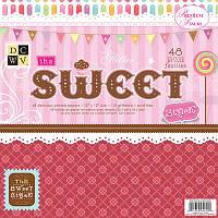 """Набор скрап бумаги DCWV """"The Sweet"""" 8 шт., фото 1"""