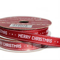 Лента текстильная Mery Christmas Red , 2м Dovecraft