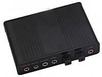 Зовнішня звукова карта USB 5.1 S / PDIF  чорний