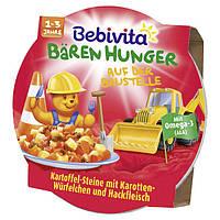 """Bebivita Bären Hunger Menü """"Auf der Baustelle"""" - Картофель с морковью и телятиной, от 1-3 лет, 250 г"""