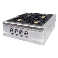Плита газовая настольная с газовым контроллером Pimak МО15-4N