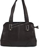 Стильная прочная вместительная женская сумка KENGURU art. 1910 темно коричневая