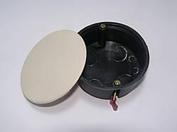 Коробка розподільна під гіпсокартон 80 мм з кришкою