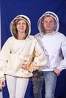 Куртка пчеловода маска-молния (Саржа 210)