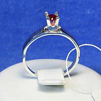 Кольцо из серебра с золотой вставкой Классика 1223руб з.нак, фото 1