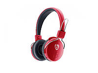 Бездротові Bluetooth-навушники V8-2 з мікрофоном  червоний