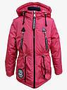 Детская демисезонная куртка парка Ариша на девочку на холлофайбере Размеры 34 36, фото 4