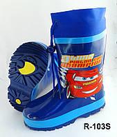 Качественные резиновые сапоги для мальчика на флисе