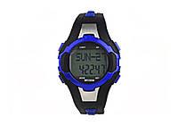Водонепроникні годинники з пульсомірів і шагометр WR30M  синій