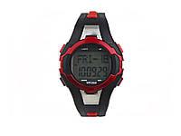 Водонепроникні годинники з пульсомірів і шагометр WR30M  червоний