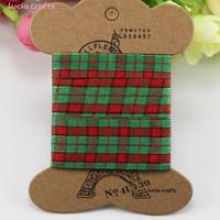 Набор текстильных лент Шотландка зеленая