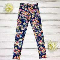Лосины джинс для девочек-подростков оптом р.110-116-128-134
