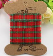 Набор текстильных лент Шотландка красная