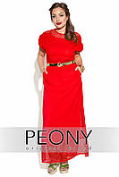 Платье Палермо (54 размер, красный) ТМ «PEONY»