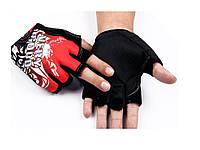 Мужские удобные спортивные велоперчатки Stylo  Красный