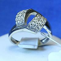 Серебряное кольцо с цирконом Россыпь кс 339, фото 1