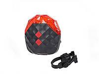 Потужна задня попереджувальна велофари 5 LED + 2 лазер  червоний