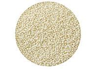 Посыпка для кондитерских изделий Нонпарель шарики / белая / сладкая / декоративная 1 мм 1 кг.