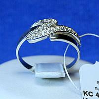 Серебряное кольцо с белым цирконом кс 487