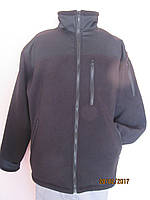 Флисовая куртка с вставками, черного цвета, фото 1