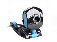 Веб-камера 4 LED HD Webcam USB 2.0 Black and Blue