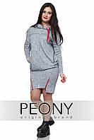 Платье Нэо - нью (52 размер, серый) ТМ «PEONY»