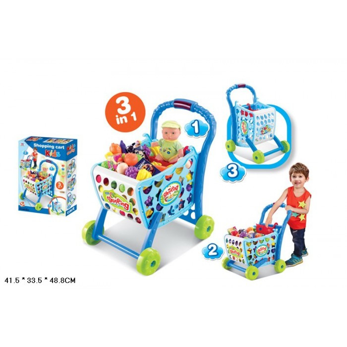 Тележка супермаркет с продуктами 008-903A