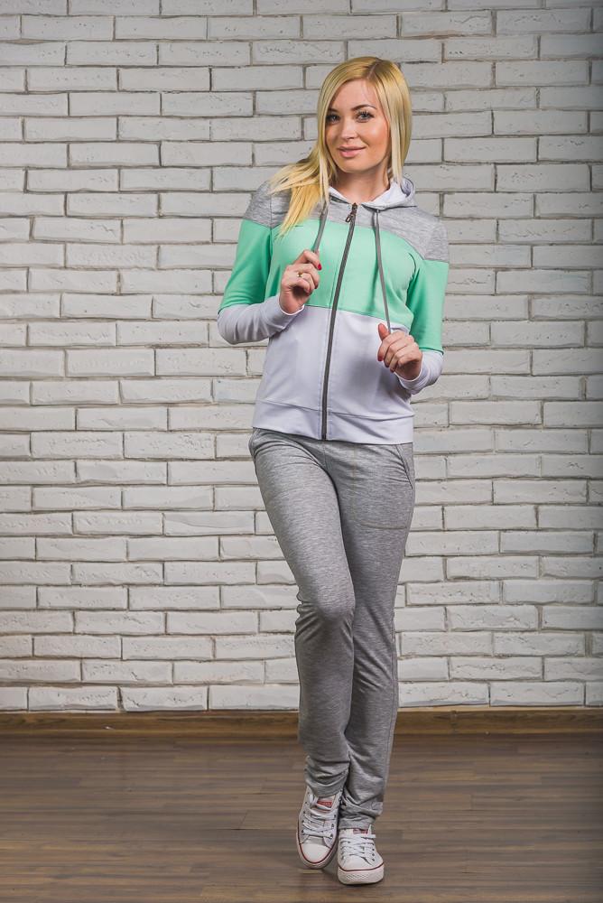 Спортивный костюм женский со штанами мята