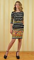 Платье короткое  в полоску, BAGEN 8717, Турция, фото 1