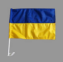 """Флаг Украины 30*40 автомобильный, нейлон """"Україна"""""""