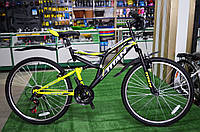 """Велосипед Titan Ghost 26"""" черно-желтый"""