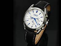 Годинники JARAGAR, наручний годинник  білий з синіми стрілками