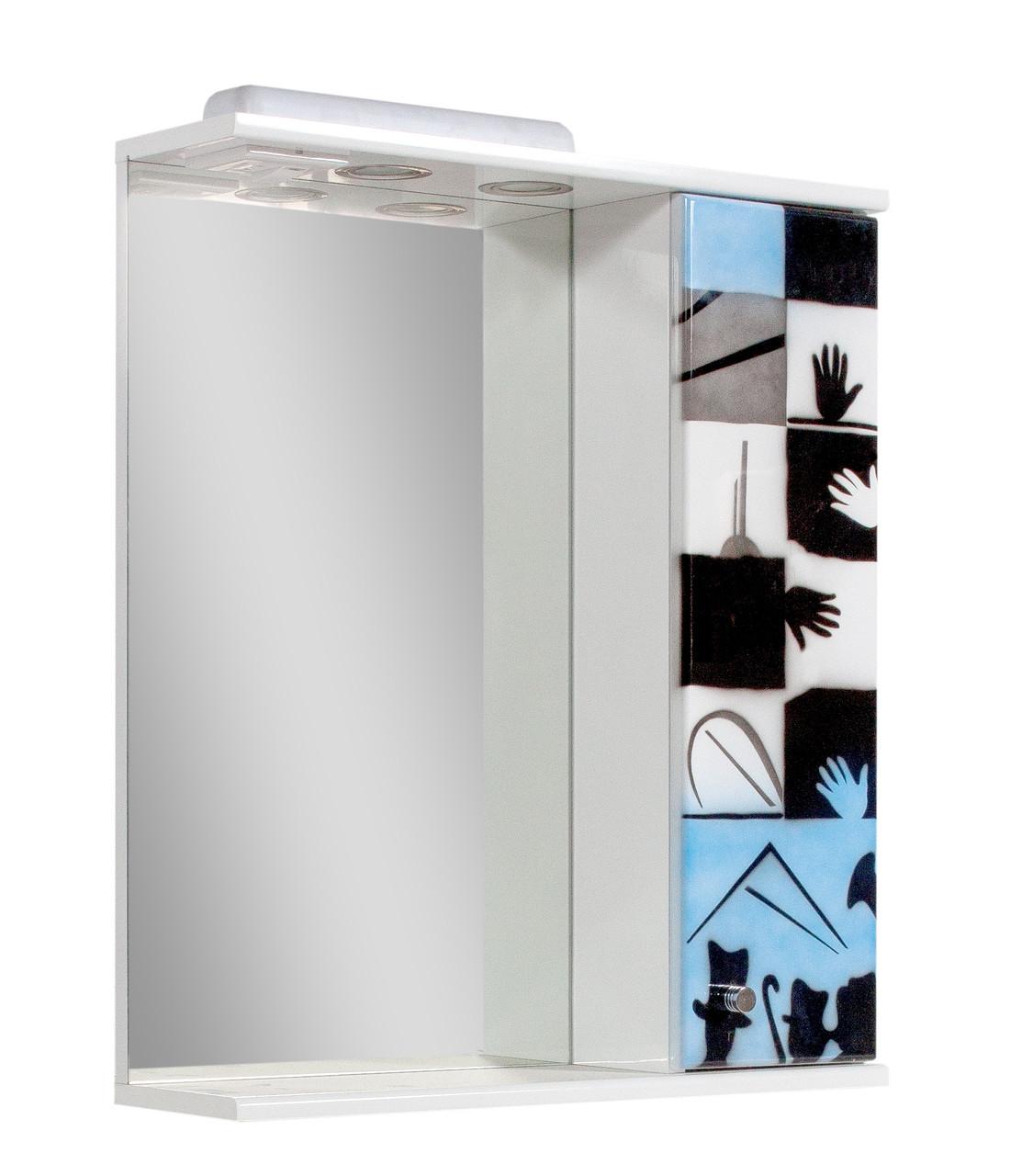 Зеркало для ванной комнаты Аэрография 60-01 правое Авангард