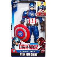 Капитан Америка говорящий (Marvel Titan Hero Series  Captain America Electronic),30см, Hasbro