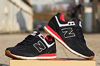 Мужские кроссовки New Balance 574 Сapen,темно синие / кроссовки мужские Нью Беланс 574 капен, замша + сетка